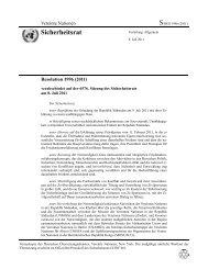 Resolution 1996 - Frieden sichern