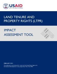 (ltpr) impact assessment tool - Land Tenure and Property Rights Portal