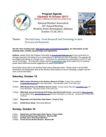 Program Agenda - National Weather Association
