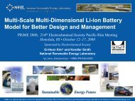 Multi-Scale Multi-Dimensional Li-ion Battery Model for Better ... - NREL