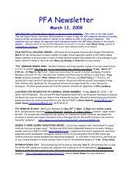 PFA Newsletter - American School of Paris