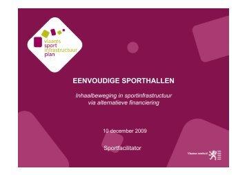 EENVOUDIGE SPORTHALLEN - Vlaanderen.be