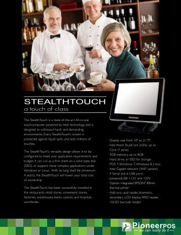 Pioneer StealthTouch-M5 Product Brochure - Touch Screens Inc.