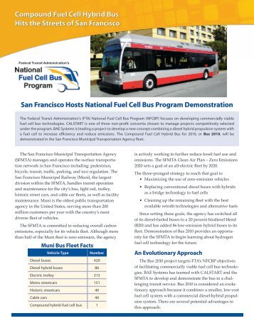 San Francisco Hosts National Fuel Cell Bus Program ... - NREL