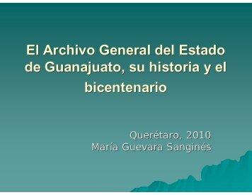 El Archivo General del Estado de Guanajuato, su historia y el ...
