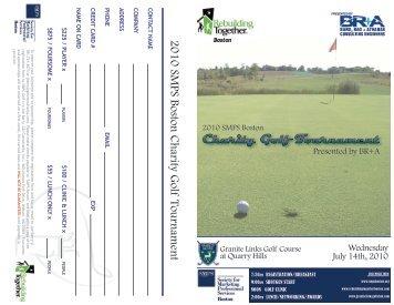 2010 SMPS Boston Charity Golf Tournament