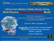 Lithium-Ion Battery Safety Study Using Multi-Physics Internal ... - NREL
