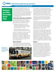 Biodiesel and Other Renewable Diesel Fuels; National ... - NREL