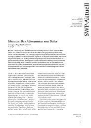 Libanon: Das Abkommen von Doha - SWP