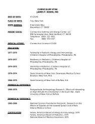 Curriculum Vitae James P. Rosen, MD - Ctallergy.net