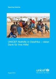 Danke für Ihre Hilfe - Linsenhoff-UNICEF-Stiftung