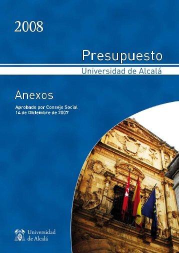 Anexos - Gerencia - Universidad de Alcalá