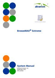 BreezeMAX Extreme System Manual, Ver.1.8 - Alvarion