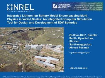 Integrated Lithium-Ion Battery Model Encompassing Multi ... - NREL