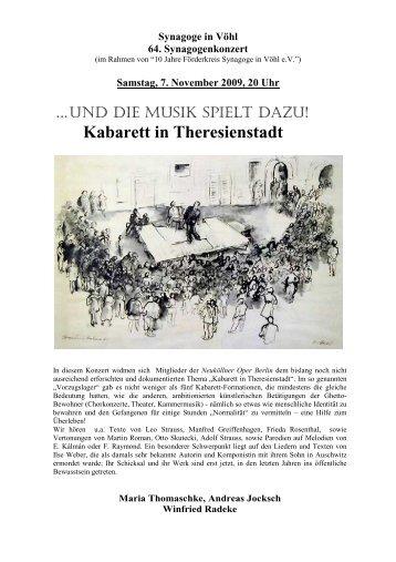 Kabarett in Theresienstadt - Synagoge in Vöhl