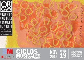 Notas al programa 19 de noviembre - Orquesta y Coro de la ...