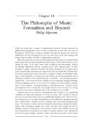 The Philosophy of Music: Formalism and Beyond - Synapse Music