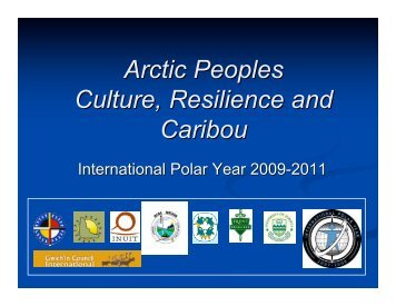 Arctic Peoples Culture, Resilience and Caribou - Gwich'in Council ...