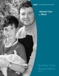 Animal Care Assessment (ACA) - Manual - CQA