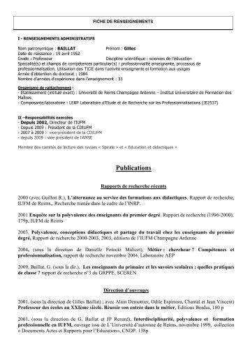 Publications - Centre de recherche sur l'intervention éducative (CRIE)