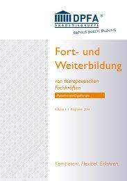 Katalog 2014 – Teil 1 - DPFA Weiterbildung - DPFA Akademiegruppe