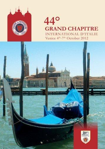 GRAND CHAPITRE - Chaine des Rotisseurs