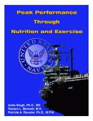 Peak Performance Through Nutrition and Exercise. - Uniformed ...