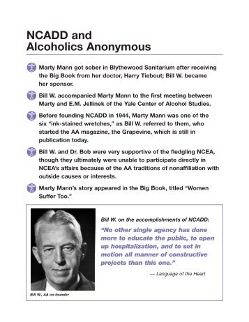 NCADD History Charts - Council on Addictions of New York State ...