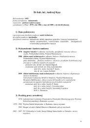 A. Kęsy - Instytut Mechaniki Stosowanej i Energetyki