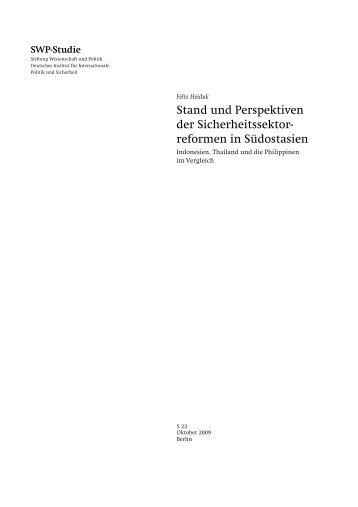 SWP-Studie - Stiftung Wissenschaft und Politik