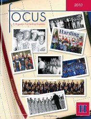 A Magazine for Harding Academy A Magazine for