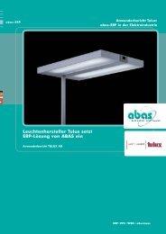 Leuchtenhersteller Tulux setzt ERP-Lösung von ABAS ein