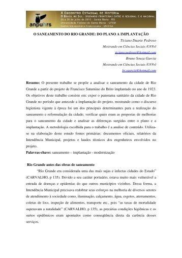 Bruno Souza Garcia - X Encontro Estadual de História – ANPUH-RS