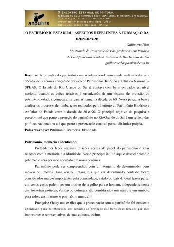 Guilherme Dias - X Encontro Estadual de História – ANPUH-RS