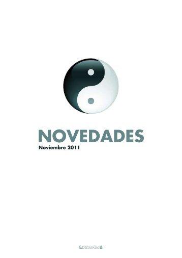 novedades de ediciones b noviembre 2011