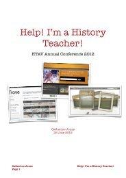 History Help! I'm A - HTAV