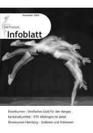Infoblatt Dezember 2004 - Turnverein STV Wettingen