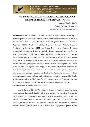 Marcos Vinicius Ribeiro - X Encontro Estadual de História – ANPUH ...