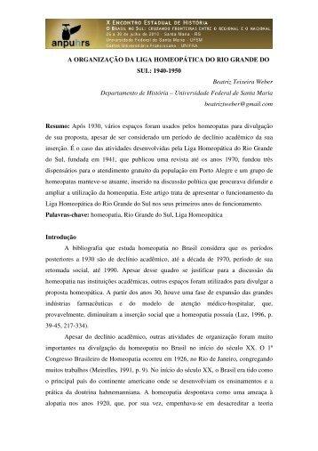 Beatriz Teixeira Weber - X Encontro Estadual de História – ANPUH ...