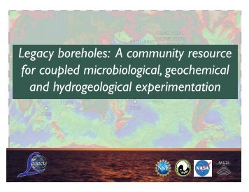 Legacy boreholes - Department of Earth Sciences