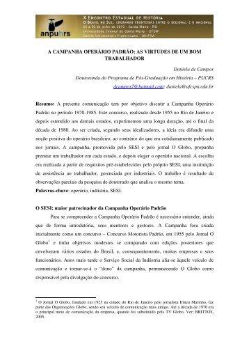 Daniela de Campos - X Encontro Estadual de História – ANPUH-RS
