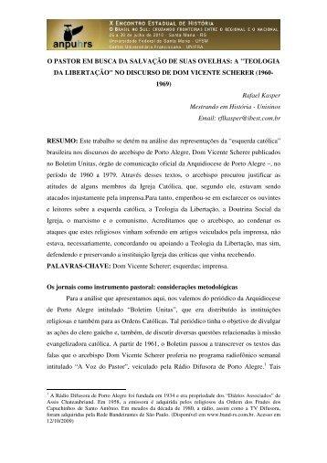 teologia da libertação - X Encontro Estadual de História – ANPUH-RS