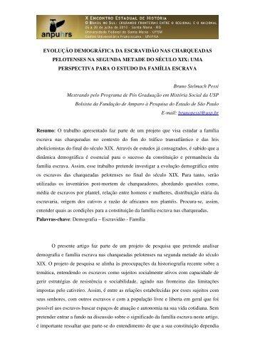 Bruno Stelmach Pessi - X Encontro Estadual de História – ANPUH-RS