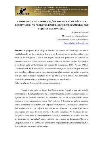 Francieli Rebelatto - X Encontro Estadual de História – ANPUH-RS