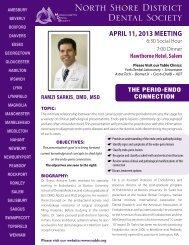 April 2013 Newsletter - Massachusetts Dental Society