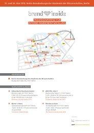 Hotelempfehlungen und Anreisebeschreibung ... - SWOP. Exchange