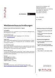 ArchInfo 2/2013 - Kammer der Architekten und Ingenieurkonsulenten