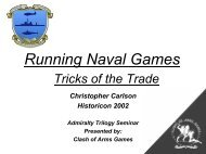 Running Naval Games Tricks of the Trade - Clash of Arms