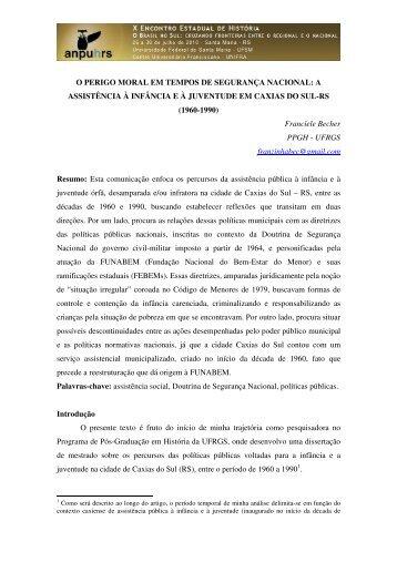 Franciele Becher - X Encontro Estadual de História – ANPUH-RS