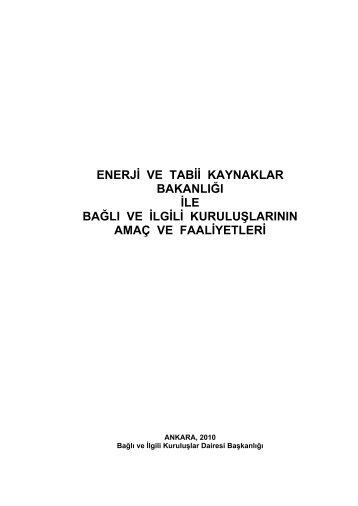 Mavi Kitap 2010 - Enerji ve Tabii Kaynaklar Bakanlığı